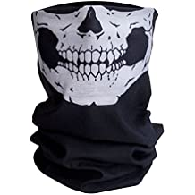 Qualitatives Multifunktionstuch / Motorrad Totenkopf Maske / Face Shield / Sturmmaske - fürs Fahrrad / Ski / Snowboard / Paintball / Klettern / Wandern - [Totenkopf / schwarz]