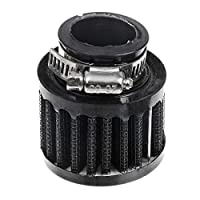 """ZYHW Auto Car Carbon Fiber Rubber End Clamp on 25mm 1"""" Intake Air Filter"""