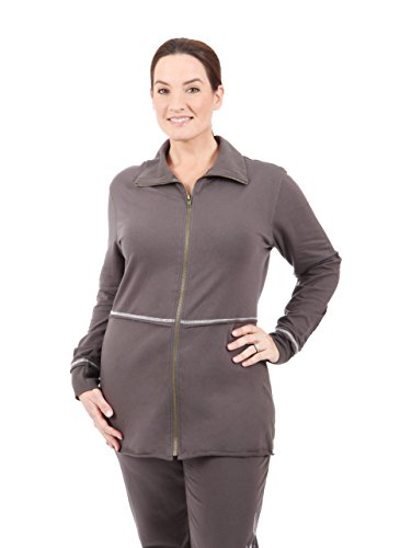 Taffy Activewear Damen Jacke, Gunmetal, X-Large -