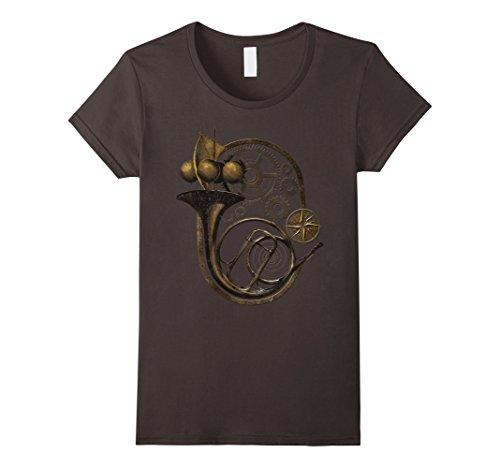 Women's Steampunk French Horn With Steampunk Clockwork Medium Asphalt steampunk buy now online