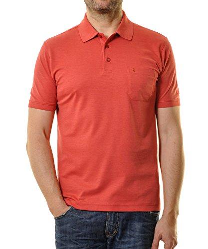 Ragman Herren Kurzarm Softknit Poloshirt Orange