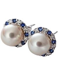 Burgmeister Jewelry Damen-Ohrstecker 925 Sterling Silber rhodiniert Zirkonia JBM2020-211