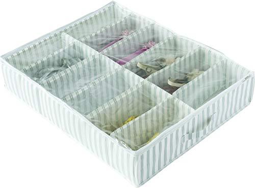 Compactor Gris Home RAN7507-Funda para Zapatos de Polipropileno, Color Blanco, 76x60x15cm...