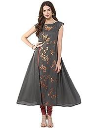 Janasya Women's Polyester Crepe Anarkali Kurta