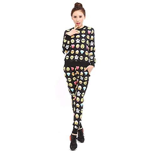 ee9955ade3 Surenow Femme Homme Sweat-shirt Pull Emoji Manche Longue S