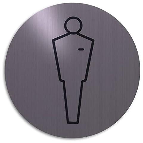 Pictogramme Toilettes - Xaptovi Plaque de porte en acier inox