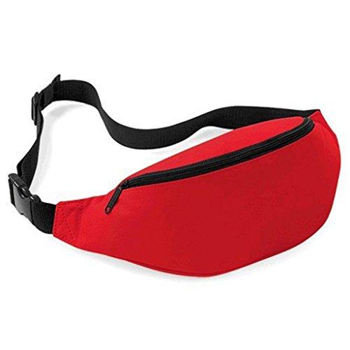 Praktische Brusttasche Hüfttasche Bauchtasche für Geld, Schlüssel und Handys usw. Sporttasche Rot
