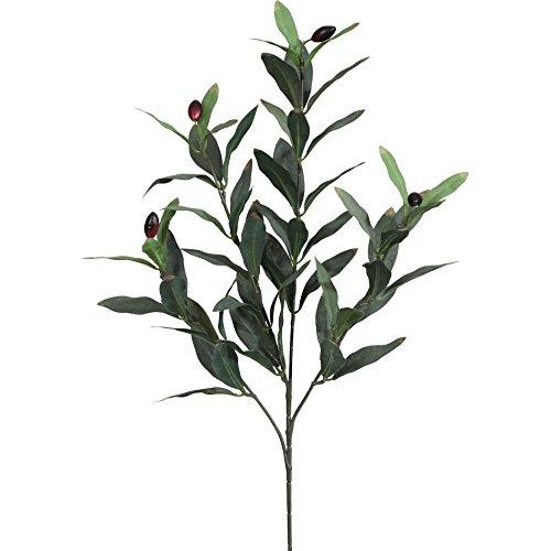 Künstlicher OLIVENZWEIG ca 50 cm, ca 66 Blatt. Ein Oliven Ast, Zweig mit 4 Trieben.