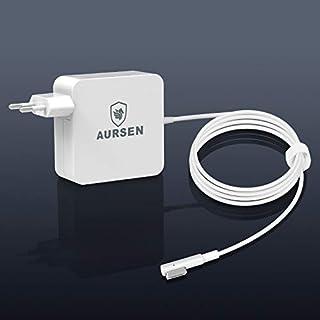 AURSEN 60W Magsafe Netzanschluss Adapter, 60W Magsafe Netzteil Ladegerät L-Form Kompatibel mit Modell A1344/A1330/A1342/A1278/A1185/A1184/A1181