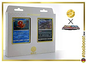 Krebscorps (Crawdaunt) 25/111 Y Regirock 53/111 - #tooboost X Sonne & Mond 4 Aufziehen Der Sturmröte - Box de 10 Cartas Pokémon Aleman + 1 Goodie Pokémon