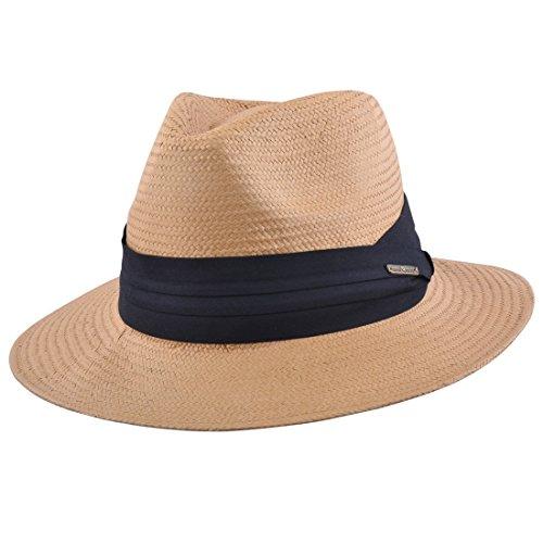 MAZ Herren Panama-Hut braun braun