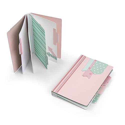 Sizzix 663629 Mini Album Stanzschablonen, Mehrfarben, Einheitsgröße -