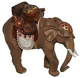 CV Elefant mit Sattel und Gepäck 15 cm für Weihnachtskrippe Krippenstall Krippenzubehör