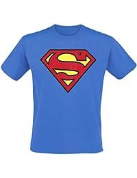 DC Superman - Logo T-shirt  Col ras du cou Manches courtes Homme
