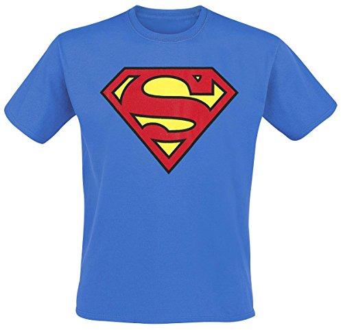 Superman Logo T-Shirt blau 5XL