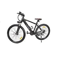 Bicicleta Eléctrica de Montaña de Aluminio Cityboard, Rueda de 26 pulgadas 36V - 250W Brushless / 21 de velocidad calidad Premium color negro.
