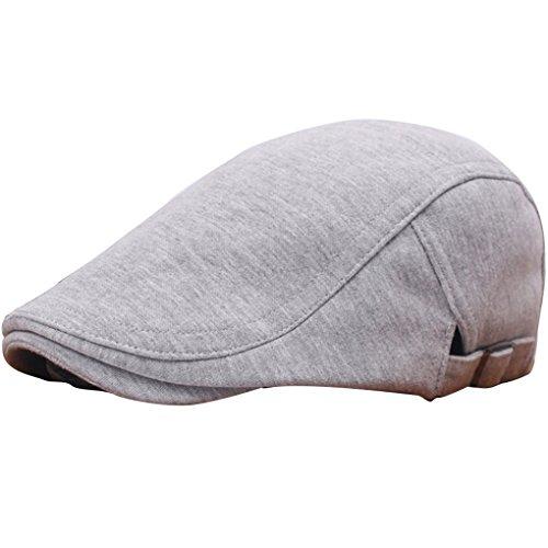 QHGstore Inverno Unisex Beret Duckbill Ivy Cap Golf Driving piatto Cabbie dello strillone cappello di natale gris clair