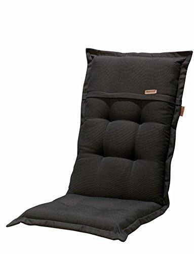 Madison Kissen für Klappstühle (100% Polyester, 123x 50x 8cm 6 unidades schwarz