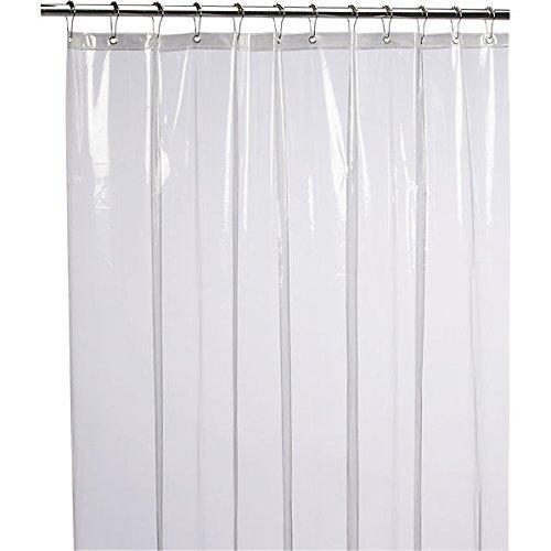 Romote - Cortina de Ducha de PEVA Resistente al Moho, Impermeable, 182,88 x 182,88 cm, Transparente, no tóxico, ecológico, sin Olor químico, Resistente al óxido