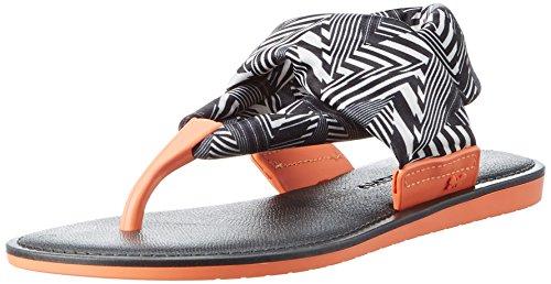Zaxy Damen Vibe Sandal Fem Knöchelriemen Schwarz (Schwarz / Weiß)