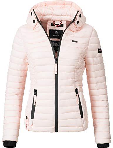 Marikoo Damen Übergangs-Jacke Steppjacke Samtpfote Rosa Gr. XL