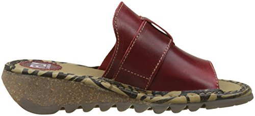 Fly London Tani807fly, Sandali a Punta Aperta Donna Rosso (Red)