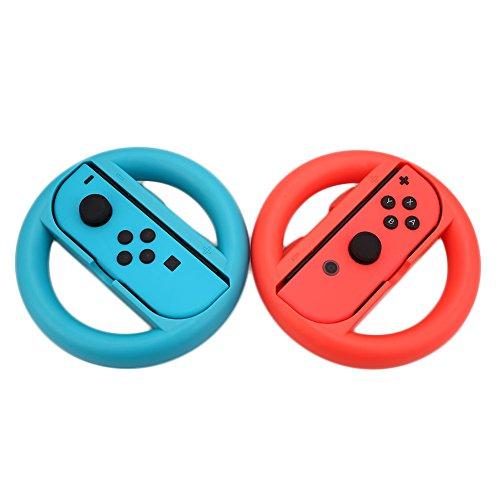 Cewaal Paquet de 2 poignées Mario Kart 8 poignées de contrôleur pour Nintendo Switch Joy-Con