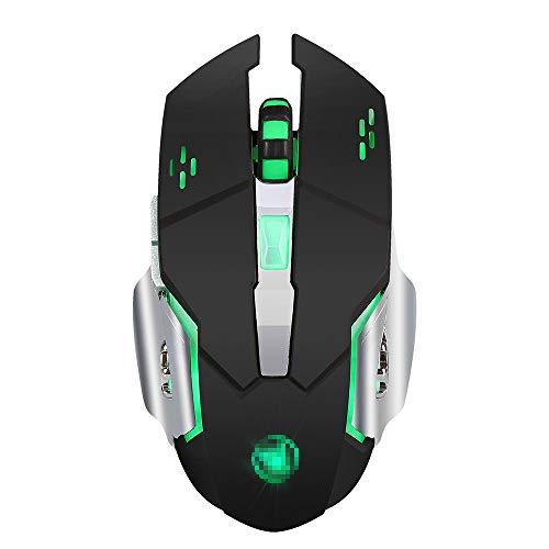BSDK Gaming-Maus, 2,4 G drahtlose wiederaufladbare Gaming-Maus, buntes Licht kann die Lichter bis zu 2400 DPI ausschalten
