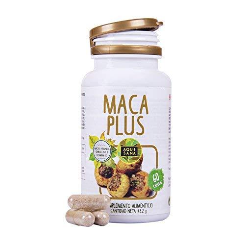 Maca con Ginkgo Biloba: Complemento vitamínico con Vitamina B, Zinc l-arginina.