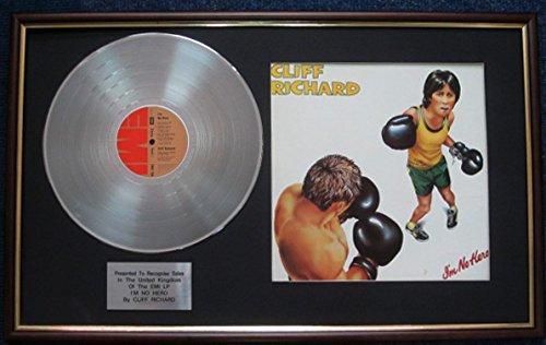 Cliff Richard-Platinum Disc und LP-Cover-Ich bin kein Hero (Hero Award)
