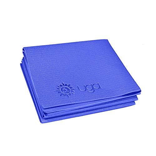 Faltbare Yoga-Übungsmatte von Sponsi, rutschfeste, tragbare Gymnastikmatte, kleine Fitnessunterlage für die Reise (17,3 x 6,1 x 0,4 cm)