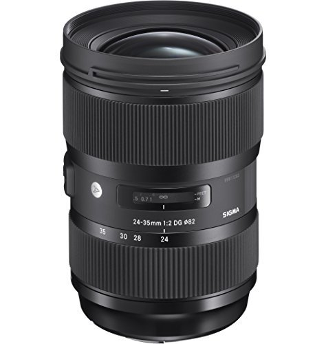 Sigma 24-35 mm F2,0 DG HSM Objektiv (82 mm Filtergewinde) für Canon Objektivbajonett schwarz