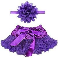 Recién nacido 4–12meses con tocado flor + Lazo tutú ropa falda para bebé niñas Photo Prop Trajes