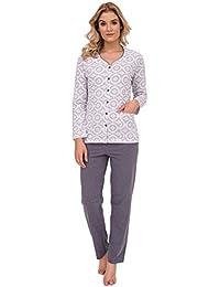 CANA nouvelle edler Schlafanzug / Pyjama mit Knopfleiste in klassischem Design, made in EU