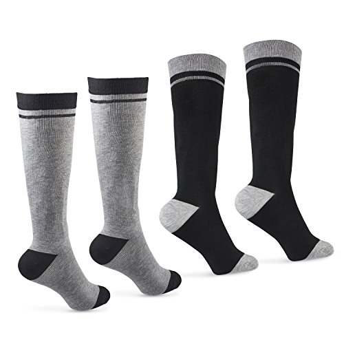 Soft Cotton Graduated Compression Support Socks 15-20 mmhg 2 Pairs for Men,Women & Nurses