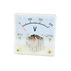 Ac 0-300 V Feineinstellung, Quadratisch Kunststoff Analog Voltage Meter Voltmeter