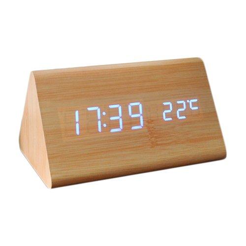 Despertador Reloj digital de madera