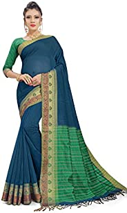 Gaurangi Creation Women's Cotton Saree with Unstitched Blouse P