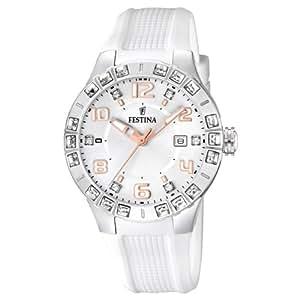 Festina - F16560/1 - Montre Femme - Quartz Analogique - Bracelet Caoutchouc Blanc