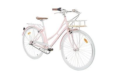 Fabric Cityrad - Hollandrad Damen Fahrrad mit Korb, Shimano Inter 3-Gang, 5 Farben, 14 Kg.