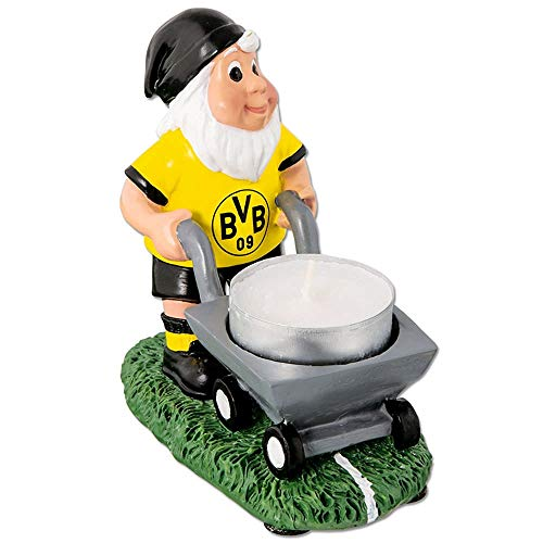 Borussia Dortmund BVB Gartenzwerg mit Teelichthalter