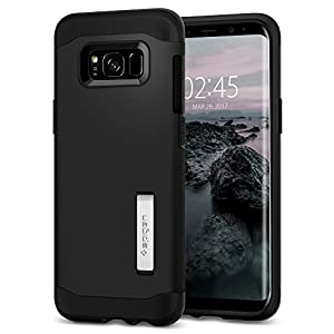 Samsung Galaxy S8 Plus Case, Spigen® [Slim Armor] Galaxy S8 Plus Case with Air Cushion Technology and Hybrid Drop Protection for Galaxy S8 Plus (2017) - Black - 571CS21122