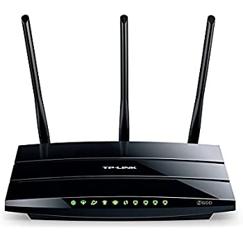 TP-Link TD-W8980 Modem Router Wireless N600, Dual Band, ADSL2+, 4 Porte Gigabit Ethernet, 2 Porte USB 2.0, WPS, Nero