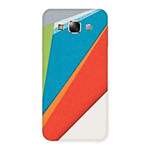 Delighted HexCol Pattern Multicolor Back Case Cover for Samsung Galaxy E5