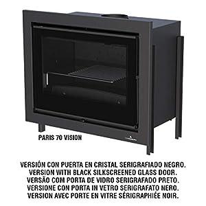 BRONPI ESTUFA DE LEÑA INSERTABLE MODELO PARIS-70 VISION