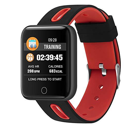 HHRONG Farbdisplay Smart Armband Ip67 Wasserdichter Pulsmesser Fitness Tracker Großbild Bluetooth Schrittzähler Kompatibel Android Ios Farbdisplay Armband-E E-mail Bluetooth