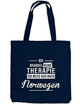 Jutebeutel - Ich Brauche Keine Therapie Norwegen - Therapy Urlaub Norway