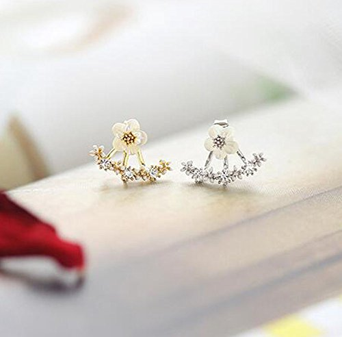 Hosaire 1 Pair New Fashion Style Small Cute Daisy Flowers Stud Earrings For Women Jewelry Accessories