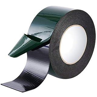 Maveek 10 m (50 mm) Foam Tape Double Sided Sponge Tape Waterproof Mounting Adhesive Tape Roll Cars Trims, Black