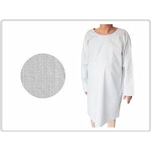 Krankenhemd weiß fuer Erwachsene Krankenhausqualität – Pflegehemd Nachthemd Patientenhemd Flügelhemd